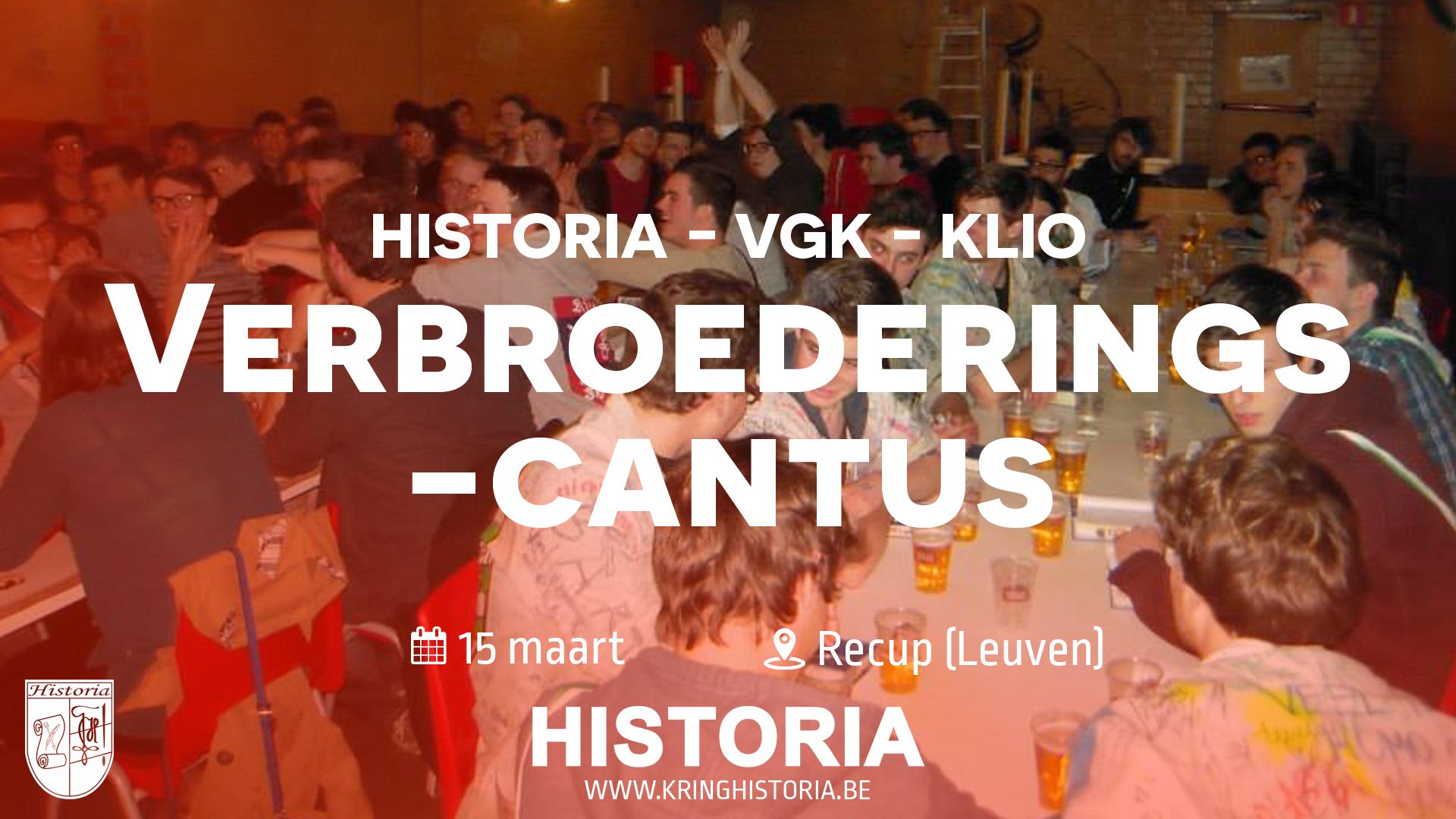 Verbroederingscantus HISTORIA - VGK - KLIO